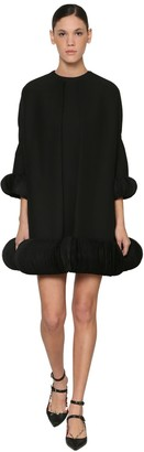 Valentino Silk & Wool Crepe Cape