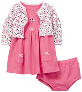 Little Me Floral Dress Set (Baby Girls)