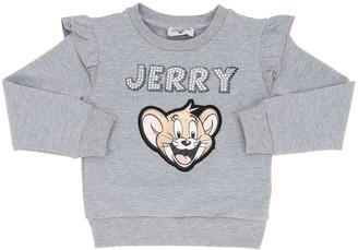 MonnaLisa Cotton Blend Sweatshirt W/ Jerry Patch