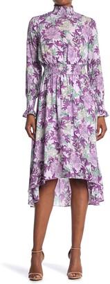 Nanette Lepore Long Sleeve High/Low Midi Dress