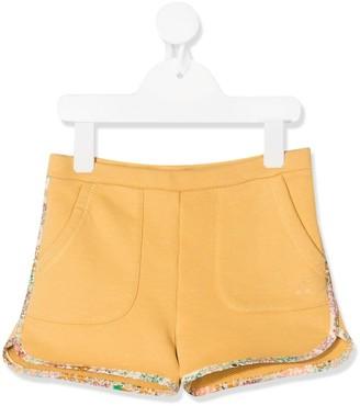 Bonpoint Floral Trim Shorts