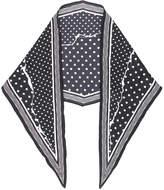 Haider Ackermann ripped effect polka dot scarf