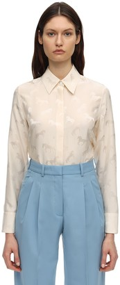 Stella McCartney Horses Satin Jacquard Shirt