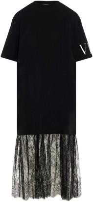 Valentino VLTN Lace Detail T-Shirt Dress