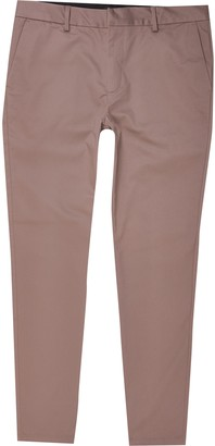 River Island Mens Purple skinny fit chino trousers