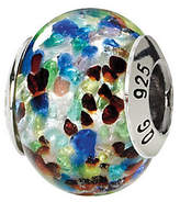 Murano Prerogatives Sterling Blue/Red Italian Glass Bead