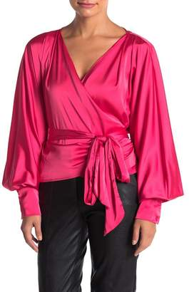 Do & Be Do + Be Satin Wrap Tie Blouse