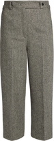 RED Valentino Chevron-tweed slim-leg wool-blend trousers