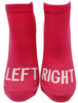 Kate Spade One-Pack Right and Left Printed No Show Socks