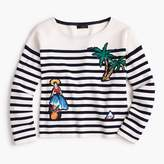J.Crew Striped cotton sweater with cabana patches