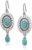 Lucky Brand Turquoise Double Dangle Earrings