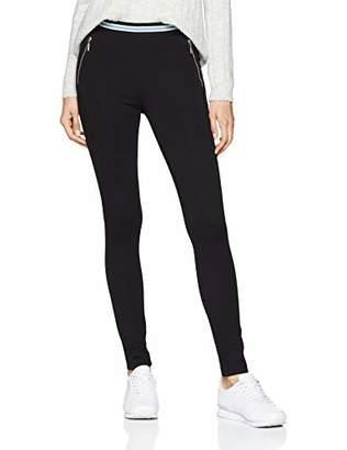 Tom Tailor Casual Women's Viskose Leggins Mit Zip Details Trouser, (Deep Black 14482), (Size: 42)