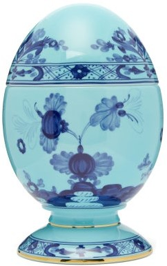 Richard Ginori Oriente Italiano Porcelain Egg Ornament - Blue