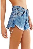 Excess Baggage Women's Levi's Summer Cut Off Hi-Lo Raw Hem High Rise Fray Shorts-XL