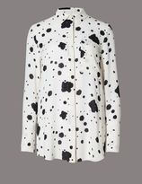 Marks and Spencer Ink Spotted Print Blouse