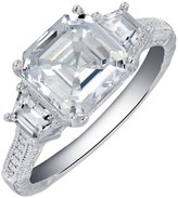 Lafonn Micro Pave Simulated Diamond Asscher Cut Center Ring