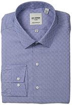 Ben Sherman Men's Textured Shirt with Spread Collar