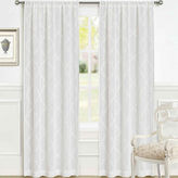 Laura Ashley Windsor Rod-Pocket 2-Pack Sheer Curtain Panels
