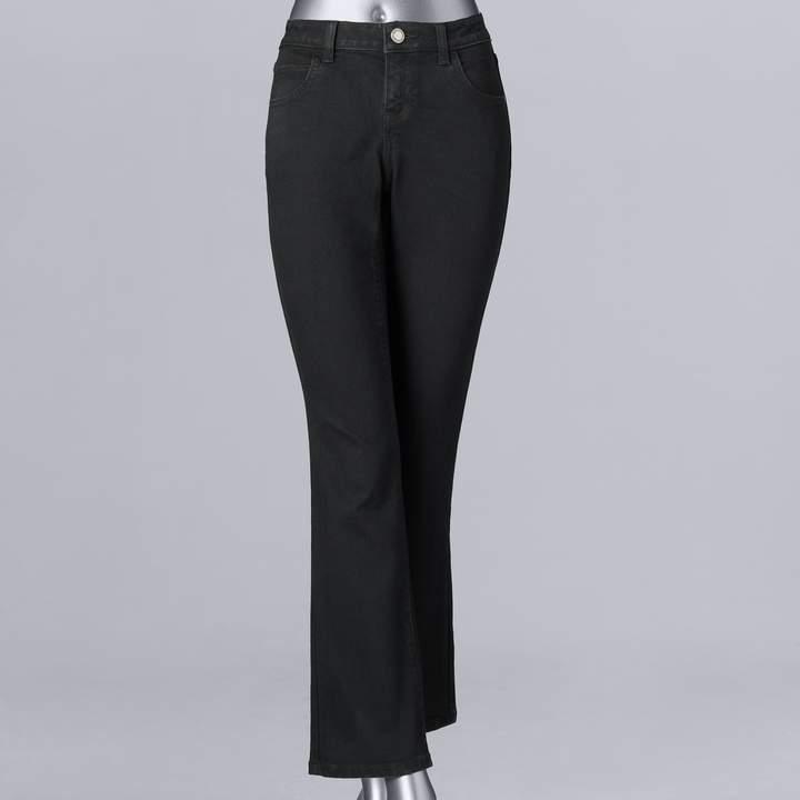 1c5422e6789 Petite Flare Jeans Black - ShopStyle