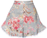 Zimmermann floral print shorts - women - Cotton/Linen/Flax - 2