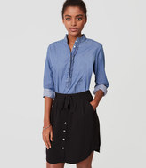 LOFT Tie Waist Button Skirt