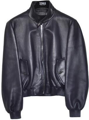 Balenciaga Purple Leather Leather jackets