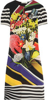 Mary Katrantzou Vitta Printed Silk Crepe De Chine Dress - Black
