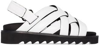 Rosetta Getty Woven Leather Flat Sandals