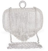 Clocolor Rhinestone Series-Dazzling Ring Evening Bags Full Crystal Wedding Prom Formal Clutches Purses Box Clutch Purse Evening Bag