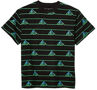 Stella McCartney Kids Short Sleeve Stella Stripes Oversized Tee (Toddler/Little Kids/Big Kids) (Black Multi) Boy's Clothing