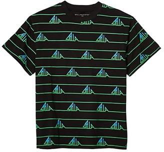Stella McCartney Short Sleeve Stella Stripes Oversized Tee (Toddler/Little Kids/Big Kids) (Black Multi) Boy's Clothing
