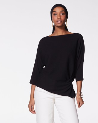 Vince Camuto Ribbed Twist-Waist Sweater