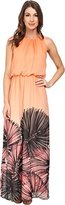 Maggy London Women's Wild Palm Printed Chiffon Maxi