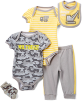 Buster Brown Yellow Truck Five-Piece Layette Set