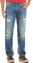 True Religion Geno Slim Straight Damaged Jeans