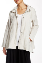 Eileen Fisher Hooded A-Line Jacket (Petite)