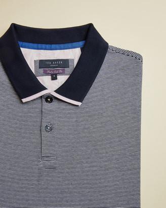 Ted Baker CAFFITT Tall striped cotton polo shirt