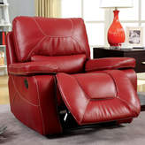 Latitude Run Lockheart Leather Manual Glider Recliner