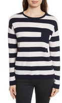 Chinti and Parker Women's Chinti & Parker Navy Pop Stripe Cashmere Sweater