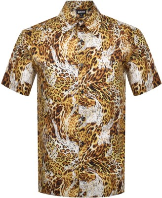 Just Cavalli Short Sleeved Shirt Yellow