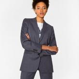 Paul Smith Women's Mottled Grey Wool-Flannel Blazer
