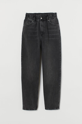 H&M Mom Loose-fit High Jeans - Black