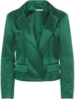 Oscar de la Renta Notch Collar Gathered Back Jacket