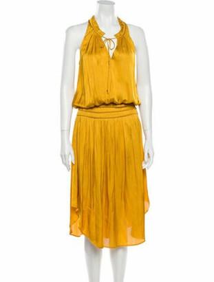 Ulla Johnson Halterneck Long Dress Yellow