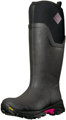 Muck Boot Muck Arctic Ice Extreme Conditions Tall Rubber Women's Winter Boots with Arctic Grip Outsole Black/Hot Pink