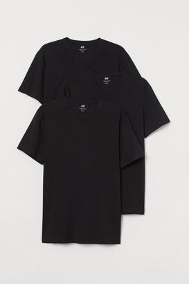 H&M 3-pack Slim Fit T-shirts - Black