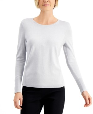 JM Collection Metallic Pullover Sweater, Created for Macy's