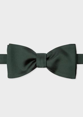 Paul Smith Men's Dark Green Silk Satin Bow Tie