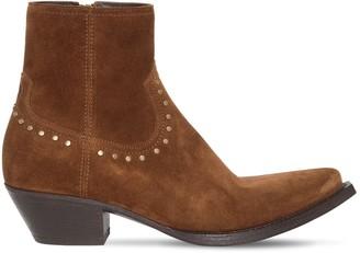 Saint Laurent 40mm Lukas Zip Up Suede Boots