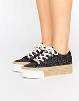 Juicy Couture Blainnne Glitter Espadrille Flatform Sneakers